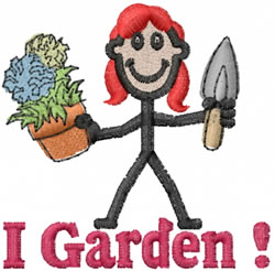 Gardener Jane embroidery design