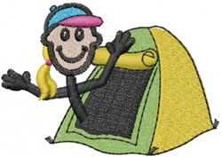 Camper Jane embroidery design