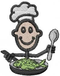Chef Joe embroidery design