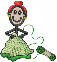 Crocheter Jane embroidery design