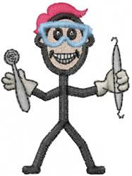 Dentist Joe embroidery design