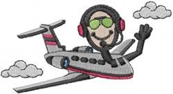 Pilot Joe embroidery design
