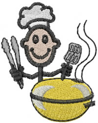 Grilling Joe embroidery design