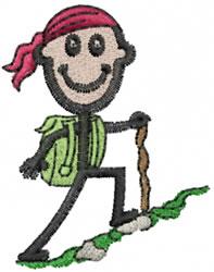 Hiker Joe embroidery design