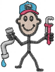 Plumber Joe embroidery design