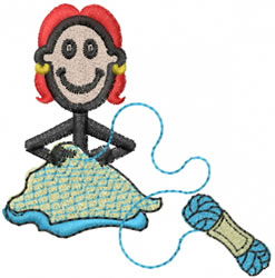 Weaver Jane embroidery design
