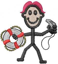 Lifeguard Joe embroidery design