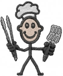 Griller Joe embroidery design
