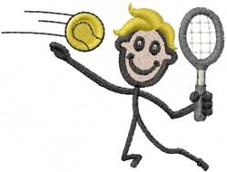 Tennis Joe embroidery design