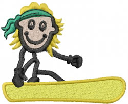 Snowboarder Joe embroidery design