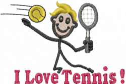 Tennis Joe embroidery design
