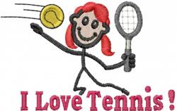 Tennis Jane embroidery design
