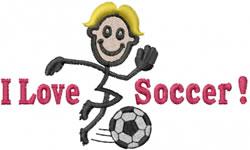 Soccer Joe embroidery design