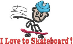 Skater Joe embroidery design
