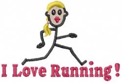 Runner Jane embroidery design