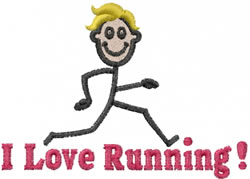 Runner Joe embroidery design