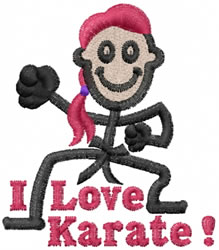 Karate Jane embroidery design