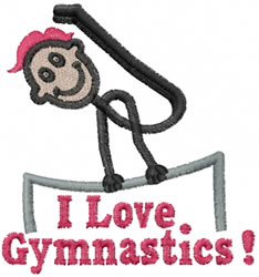 Gymnast Joe embroidery design