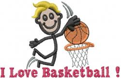 Basketball Player Joe embroidery design