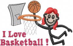 Basketball Player Jane embroidery design