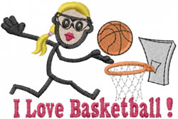Basketball Player Jane embroidery design
