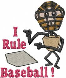Baseball Umpire embroidery design