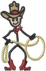 Cowboy Joe embroidery design