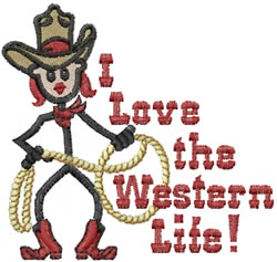 Western Life Jane embroidery design