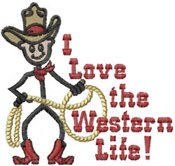 Western Life Joe embroidery design