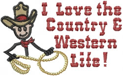 Country Boy Joe embroidery design