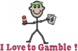Gambler Joe embroidery design