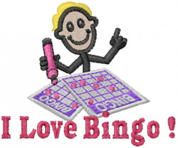 Bingo Joe embroidery design