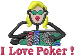 Poker Jane embroidery design