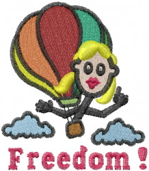 Jane Airballooning embroidery design