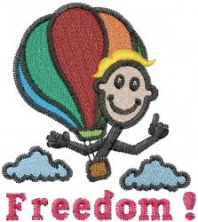 Joe Airballooning embroidery design