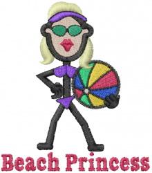 Beach Princess embroidery design