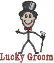 Lucky Groom embroidery design