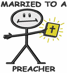 Married to a Preacher embroidery design