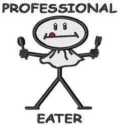 Professional Eater embroidery design