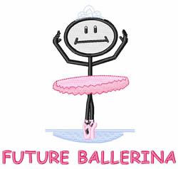 Future Ballerina embroidery design