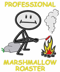 Marshmallow Roaster embroidery design