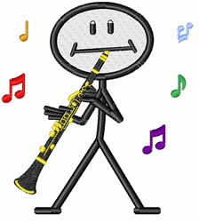Clarinet embroidery design