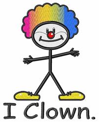 I Clown embroidery design