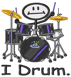 I Drum embroidery design