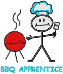 BBQ Apprentice embroidery design
