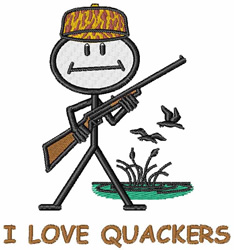 I Love Quackers embroidery design