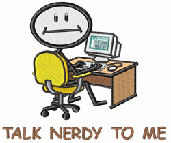 Talk Nerdy To Me embroidery design
