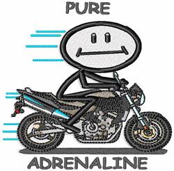 Pure Adrenaline embroidery design