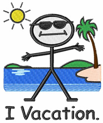 I Vacation embroidery design