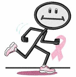 Breast Cancer Run embroidery design